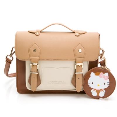 Hello Kitty聯名- 劍橋包 Preppy Style / 復古學院-咖啡色