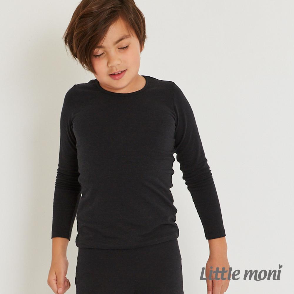 Little moni 發熱紗圓領上衣(四色可選)