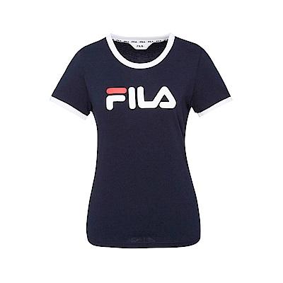 FILA 女款短袖圓領T恤-丈青 5TET-1510-NV