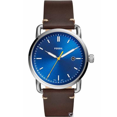 FOSSIL COMMUTER  三指針日期顯示皮革手錶(FS5539)42mm