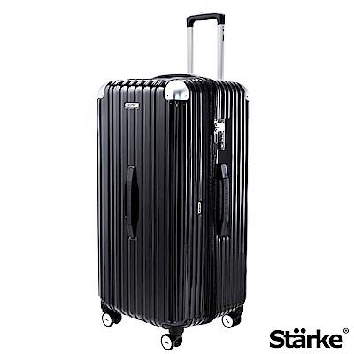 Starke LUXURY 32吋PC拉鍊旅行箱Sport運動版行李箱 -亮面黑