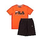 FILA KIDS 童吸濕排汗短袖套裝-橘色 1WTT-4906-OR