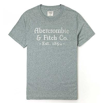 麋鹿 AF A&F 經典印刷文字圖案短袖T恤-淺墨綠色