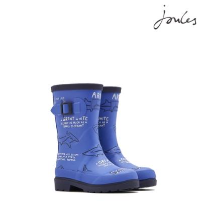 英國【Joules】藍色鯊魚文獻雨靴