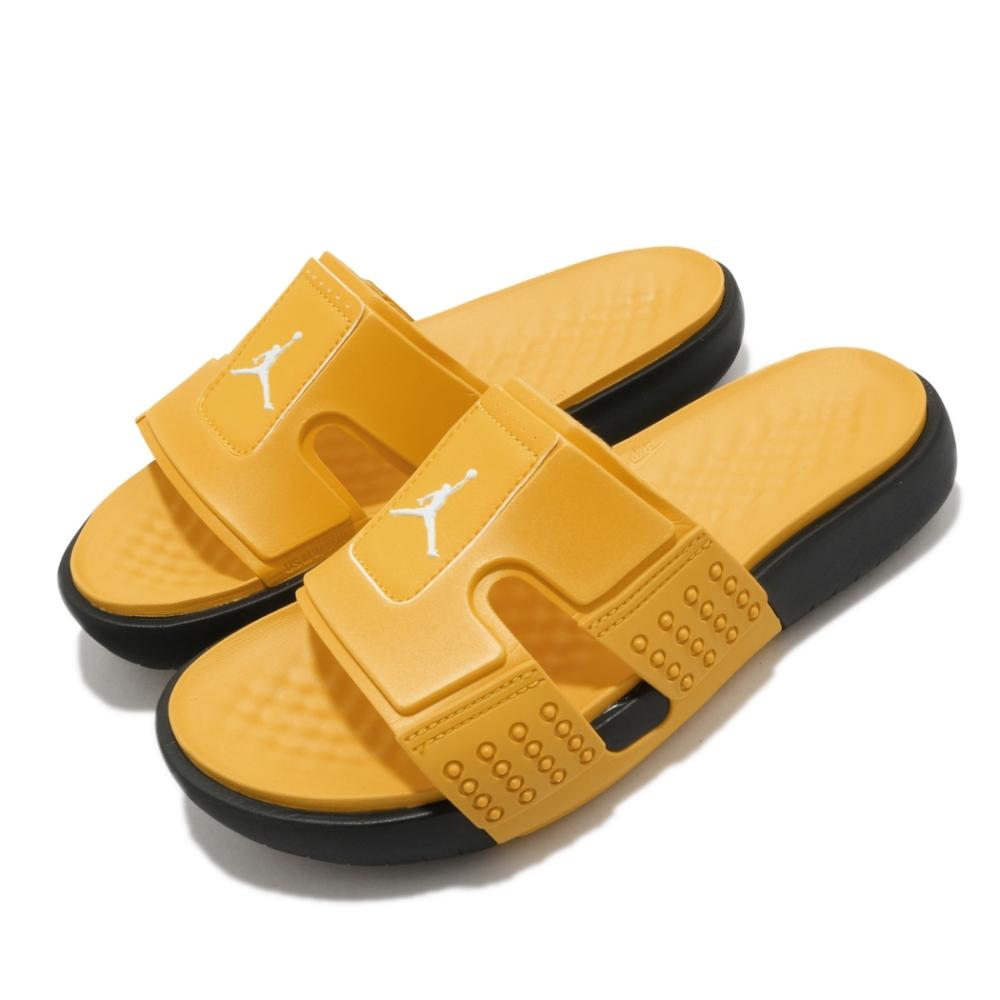 Nike 拖鞋 Jordan Hydro 8 套腳 男鞋 喬丹 輕便 夏日 舒適 簡約 穿搭 黃 黑 CD2803003