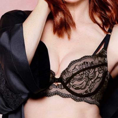 黛安芬-FLORALE晨曦金盞系列 B-E罩杯內衣 性感黑