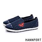 HANNFORT CALIFORNIA輕彈愛心休閒鞋-女-深藍