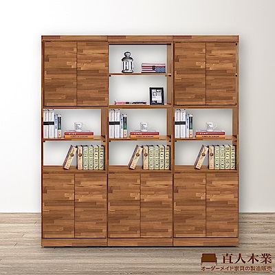 日本直人木業-STYLE積層木2高低門180CM書櫃/隔間櫃/玄關櫃