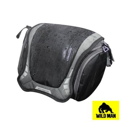 WILD MAN 自行車龍頭袋可拆式相機工具大容量防水收納包 黑