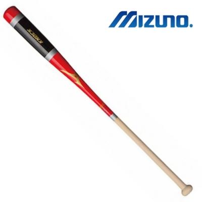 MIZUNO 日本製KNOCK教練棒 黑紅x原木 1CJWK14089