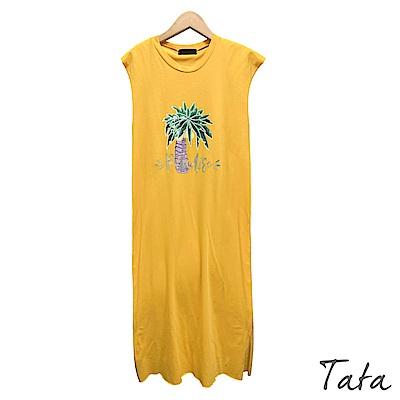 椰子樹假兩件背心洋裝 共三色 TATA