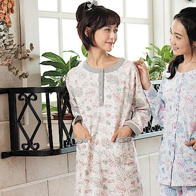 華歌爾睡衣-Pretty Amy 樂趣 M-L 長袖裙裝家居服(米)