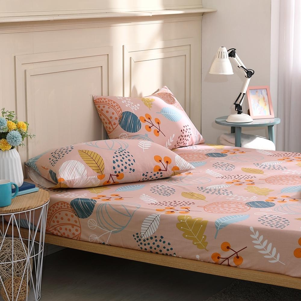 鴻宇 100%精梳棉 南菓子 單人床包枕套二件組