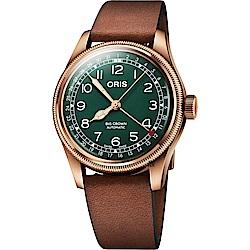 Oris 豪利時 Big Crown 指針式日期80週年青銅紀念版機械錶-40mm