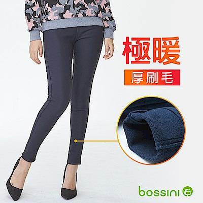 bossini女裝-厚刷毛超彈窄管褲01暖灰