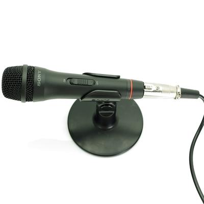 索尼Sony原廠立體聲電容麥克風ECM-PCV80U(支架座式,附UAB-80音效卡盒,線長2公尺)適樂器語音錄音收音