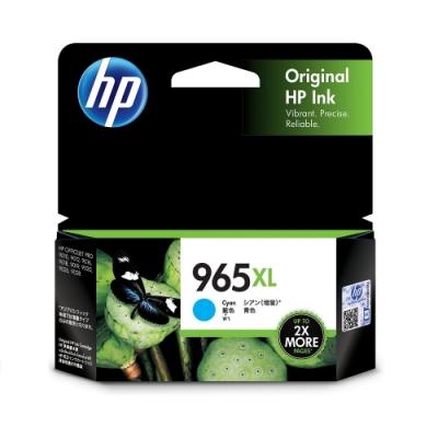 HP 965XL 高列印量青色原廠墨水匣(3JA81AA)