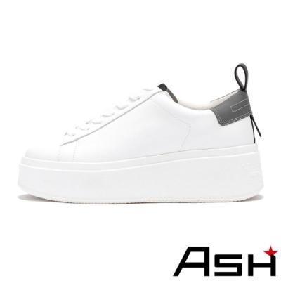 ASH-MOON系列時尚簡約厚底增高小白鞋-灰
