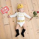 日安朵朵 男嬰經典禮盒白馬王子(MIT台灣製連身衣+皇冠帽+鬍子奶嘴