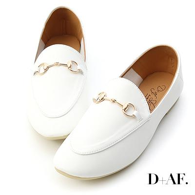 D+AF 品味典藏.超軟底馬銜釦樂福鞋*白