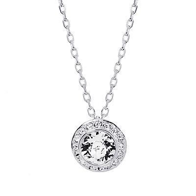 SWAROVSKI 施華洛世奇 圓形璀璨水晶鑲嵌銀色項鍊