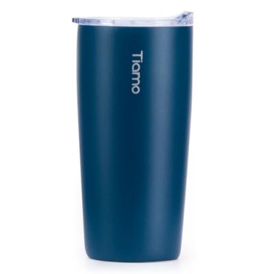 Tiamo 真空陶瓷隨手杯 360ml(HE5160)-藍色系