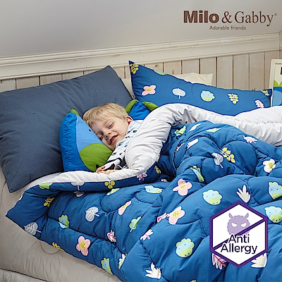 Milo & Gabby 動物好朋友-兒童大人款輕柔舒適FresiL棉被(DYLAN花園)