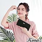 KINAZ 甜蜜驚喜L型拉鍊長夾-巧克黑-甜心磚系列-快