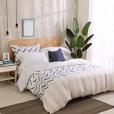 鴻宇 雙人加大床包薄被套組 天絲300織 奧斯卡 台灣製