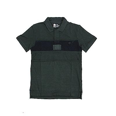 Timberland 男款軍綠條紋 POLO 衫 | A1N9TE20