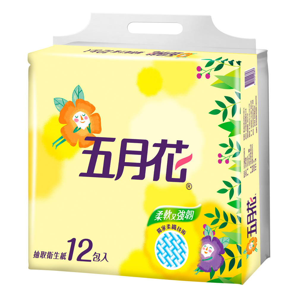 五月花花園版抽取式衛生紙100抽x72包/箱