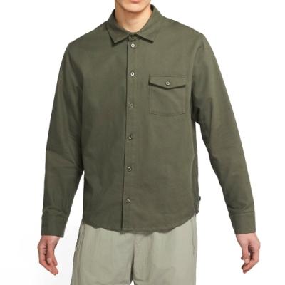 NIKE 襯衫 上衣 長袖上衣 襯衫 休閒 男款 綠 CV4450325  AS M NK SB FLANNEL