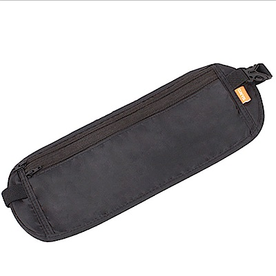 PUSH!旅遊用品高信價比旅遊防盜腰包健身跑步防盜腰包隱形腰包護照包U24-1黑色