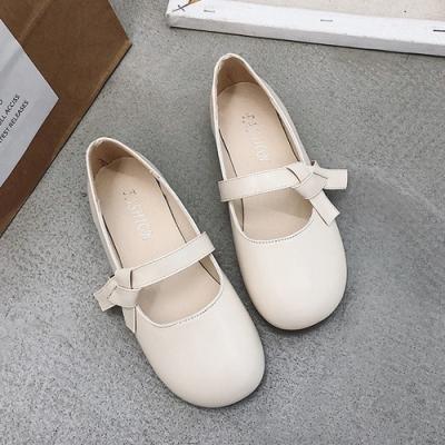 KEITH-WILL時尚鞋館 好感吸晴甜蜜俏皮豆豆鞋-米