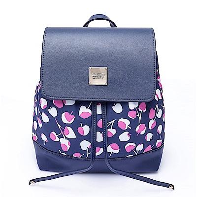 VOVAROVA空氣包-翻蓋束口後背包-Cherrypicks-ndigo&pink