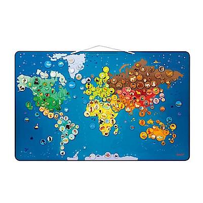 法國Janod - 互動式磁性世界動物地圖