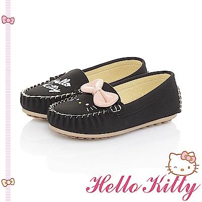HelloKitty 親子手工鞋-不對稱輕量休閒童鞋-黑