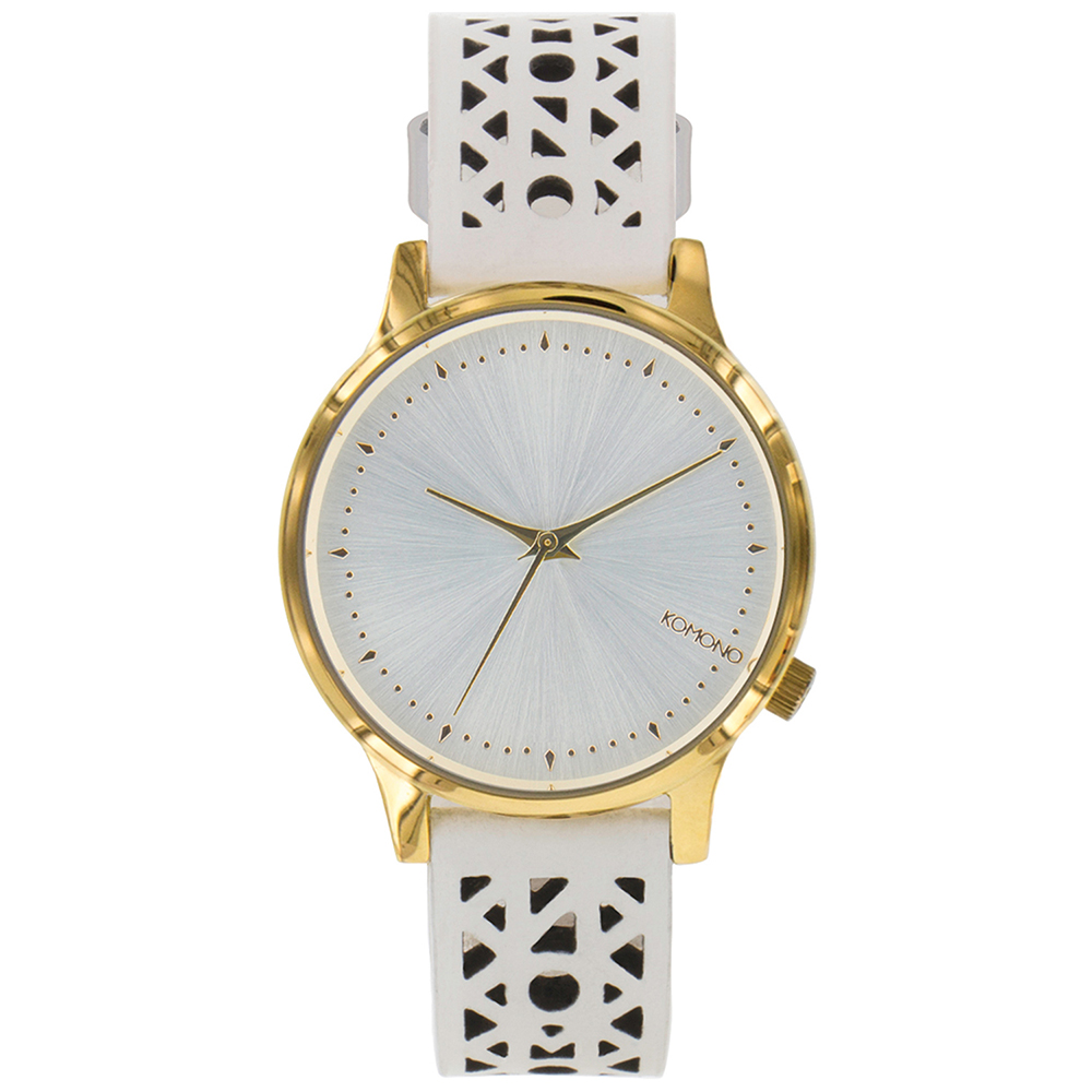 KOMONO Estelle Cutout 腕錶-白色雕刻/36mm