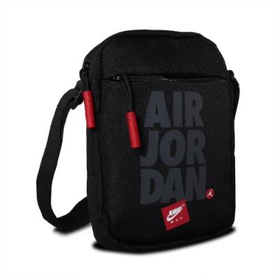 Nike 斜背包 Jordan Festival Bag 喬丹 飛人 小包 外出 輕便 穿搭 黑 紅 JD2113016AD001