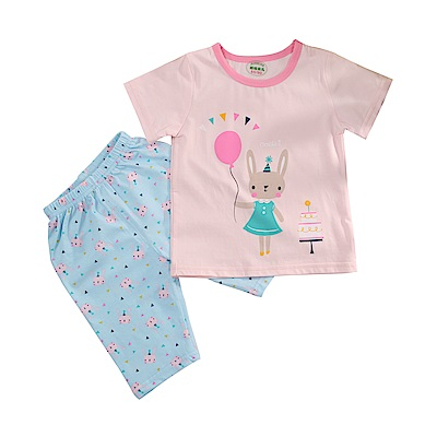 女童短袖清涼套裝 k51079 魔法Baby