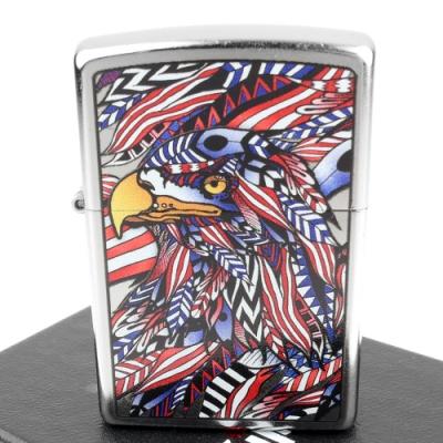 ZIPPO 美系~American Eagle-美國鷹圖案設計打火機