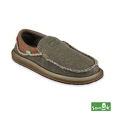 SANUK-CHIBA 寬版懶人鞋-男款(墨綠色)