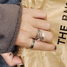 梨花HaNA 韓國復古泰銀可愛的笑臉們垂綴戒指