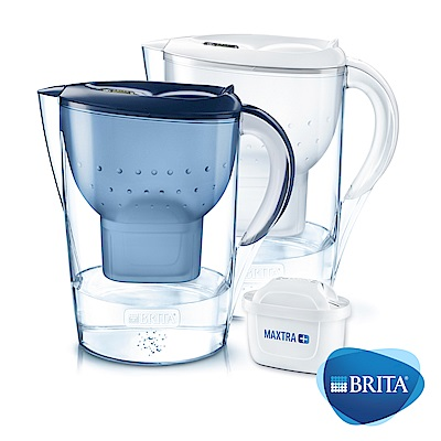 [加碼贈1芯還可55折加價購] 德國BRITA Marella馬利拉濾水壺+1入MAXTRA Plus濾芯(共2芯)