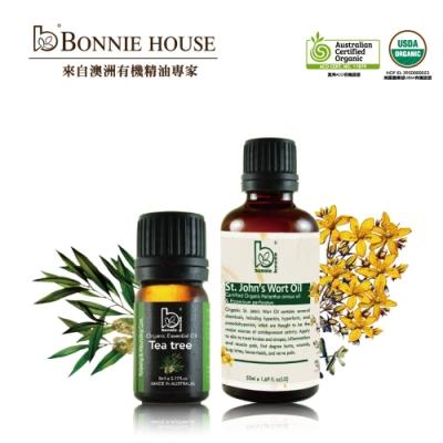 Bonnie House 茶樹精油5ml+聖約翰草油50ml