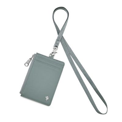 PORTER - 輕甜繽紛SPIRIT氣質證件套 - 鼠尾草灰(銀)