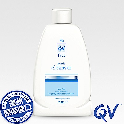 QV FACE舒敏無皂鹼極淨潔顏乳 250G