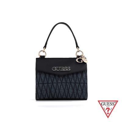 GUESS-女包-拼接菱形縫線牛仔手提肩背包-牛仔藍 原價2490