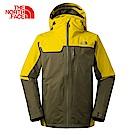 The North Face北面男款黃綠撞色防水透氣外套|3KT27GC