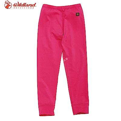 【Wildland 荒野】童遠紅外線彈性保暖褲紅
